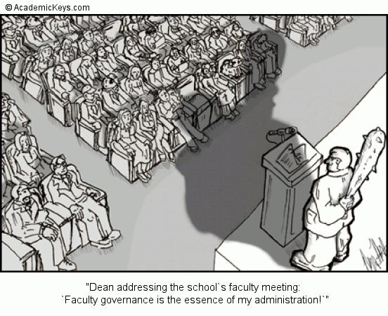 cartoon 13 dean addressing the school s faculty meeting faculty